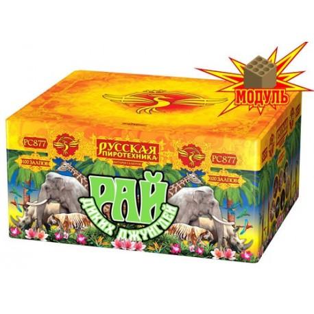 "РС877 Батарея салютов 3Д:Рай диких джунглей (1,2""х100) МОДУЛЬ"