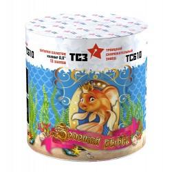 "ТС610 Батарея салютов Золотая рыбка (0,8""х 10)"