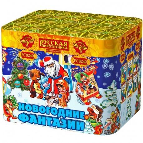 """РС8240 Батарея салютов Новогодние фантазии (1,2""""х36)"""