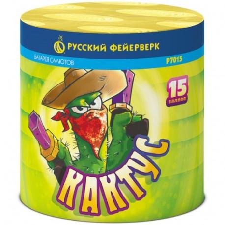 """Р7015 Батарея салютов Кактус (0,6""""х15)"""