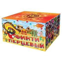 """РК8080 Батарея салютов Финти перцевый (0,8"""" 1,0"""" 1,25""""х88)"""