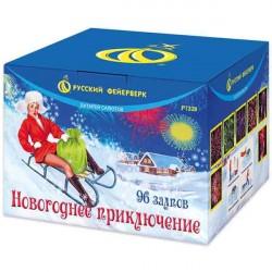 """P7328 Батарея салютов Новогоднее приключение (0,8""""x 96)"""