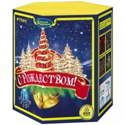 "P7591 Батарея салютов С Рождеством! (1,25""x19) МОНОБЛОК"