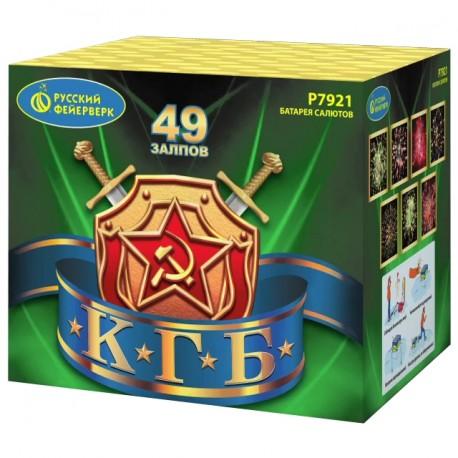 "P7921 Батарея салютов КГБ (1,25""x 49) МОНОБЛОК"