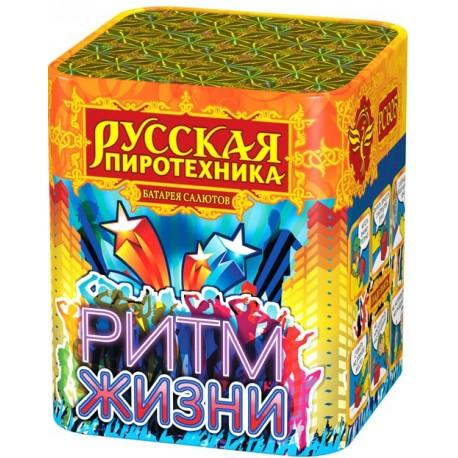 """РС605 Батарея салютов Ритм жизни  (0,8""""х 16) МОДУЛЬ"""