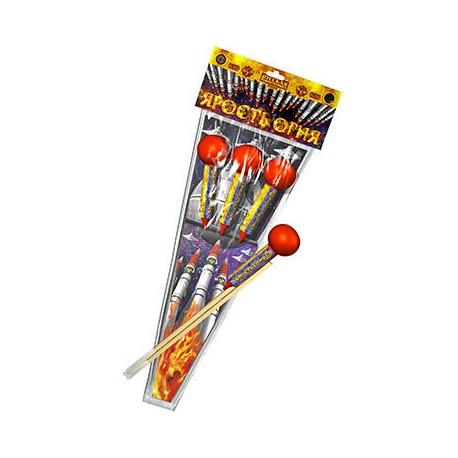 РС252 Ракеты Ярость огня (со складным стабили-затором, три разных эффекта)